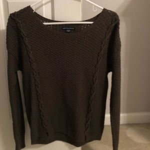 Dark olive green American eagle sweater